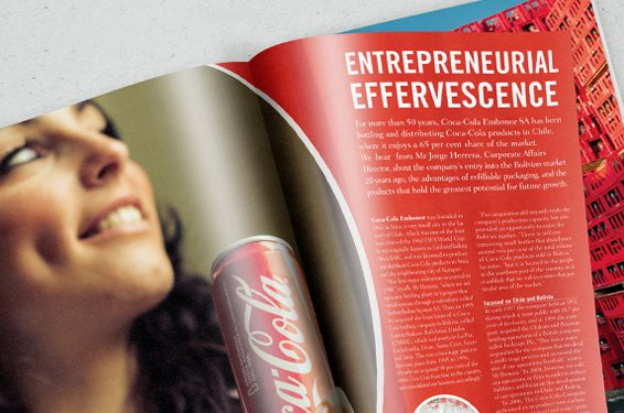 Coca Cola Magazine Layout